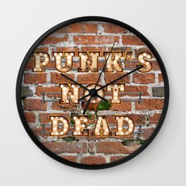 Punk's not Dead - Brick Wall Clock