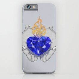 """""""Above all else, guard your heart, for it is the wellspring of life."""" Proverbs 4:23 iPhone Case"""