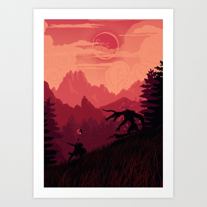 Under A Blood Moon Art Print