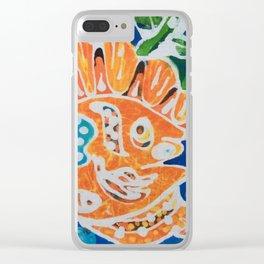 Tropical gold fish batik Clear iPhone Case