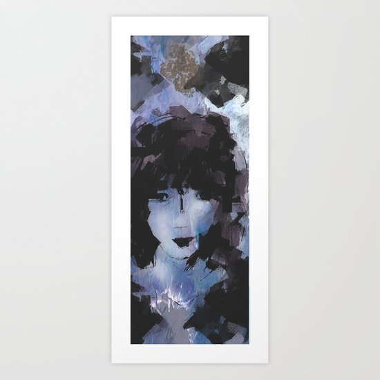 Abstract - Knowing Blue Art Print