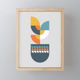 Geometric Plant 01 Framed Mini Art Print