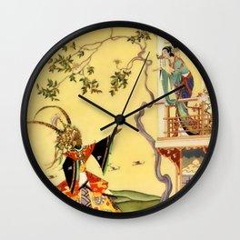 "Folk tale ""1001 Nights"" by Virginia Sterrett Wall Clock"