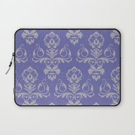Blue Vintage Damask Laptop Sleeve