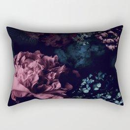 Peony in the dark Rectangular Pillow