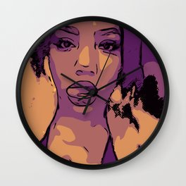 Purple Lip Licker Wall Clock