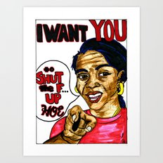 I WANT YOU: a call to the people Art Print