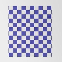Checkered (Navy & White Pattern) Throw Blanket