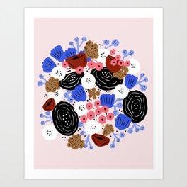Vibrant floral bouquet Art Print
