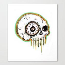 Clock Eyed Skull Canvas Print