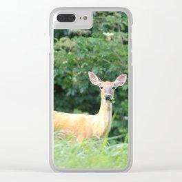 Doe A Deer Clear iPhone Case