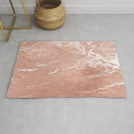 Elegant pink rose gold abstract marble Rug