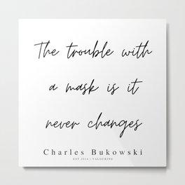 68   | 200310 |  Charles Bukowski Quotes | Minimalist | Line Quote Metal Print