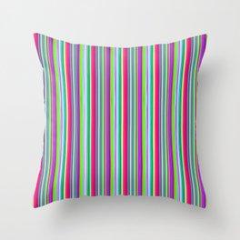 Colour line stripes 555 Throw Pillow