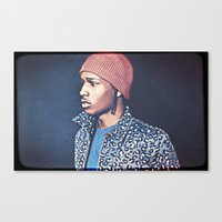 asap rocky Canvas Prints featuring Asap Rocky by Enna