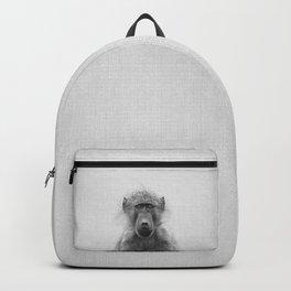Baboon - Black & White Backpack