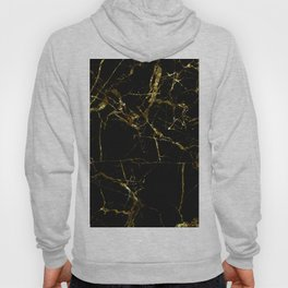 Golden Marble - Black and gold marble pattern, textured design Hoody