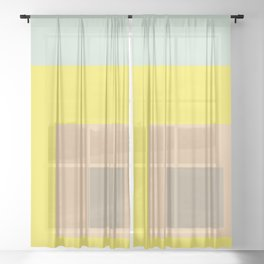Color Ensemble No. 1 Sheer Curtain