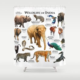 Wildlife of India Shower Curtain