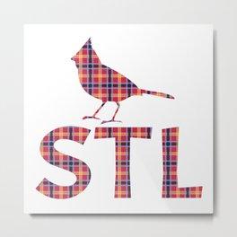 Cardinals Plaid Metal Print