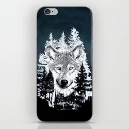 Forest Wolf Art iPhone Skin