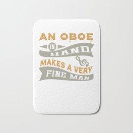 An Oboe in Hand Makes a Very Fine Man Bath Mat