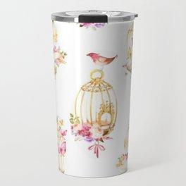 Floral Birdcage Travel Mug