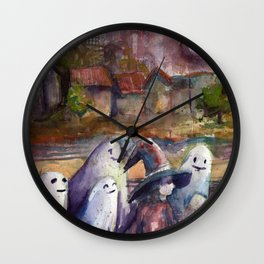 ghosts like ghost stories Wall Clock
