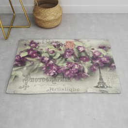 Crabapple Tree Postcard Art Design Rug