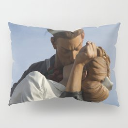 Kissing Sailor And Nurse Portrait Pillow Sham