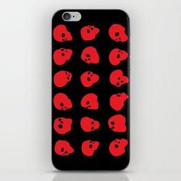 redhead - red on black iPhone Skin