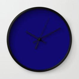 Sapphire Blue Colour Wall Clock