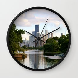 Chicago by River Wall Clock