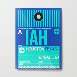 IAH Houston Luggage Tag 2 Metal Print