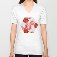 vintage floral V-neck T-shirts featuring vintage floral by cardboardcities