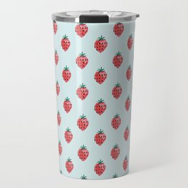strawberry field Travel Mug