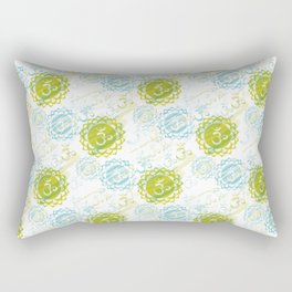 Om Green Rectangular Pillow