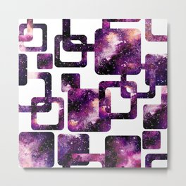 Galaxy Geometric Pattern 08 Metal Print