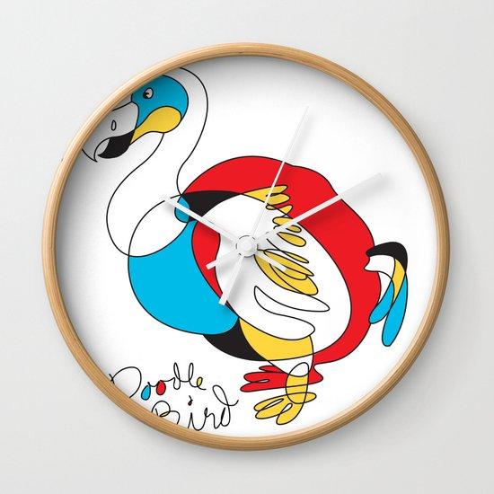 Doodle Bird Wall Clock