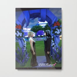 Drake and Mara wedding print :Love is Eternal the wedding vows cards and phone cases with autograph Metal Print