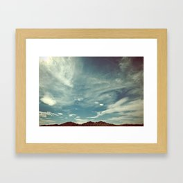 Clouds and Sky Framed Art Print