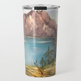 European Mountains Landscape Painting Travel Mug