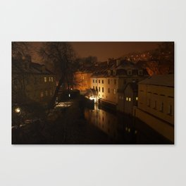 Watermill through the night Canvas Print