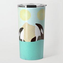 Orcas under the Sun Travel Mug