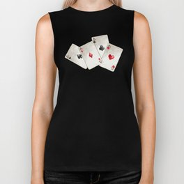 Four of A Kind Aces Nevada Day Biker Tank