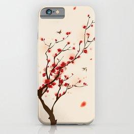 Oriental plum blossom in spring 005 iPhone Case
