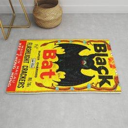 Black Bat Vintage Firecrackers Rug