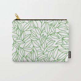 Organic clean pattern of green leafs Carry-All Pouch