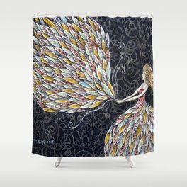 She Fancied a sky full of Feathers Shower Curtain