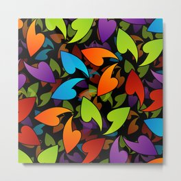 Four seasons leaves- colorful leaves to symbolize seasons Metal Print